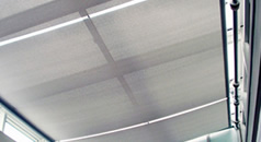 Roof canopy blinds