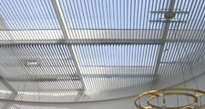Roof skylight sunshade