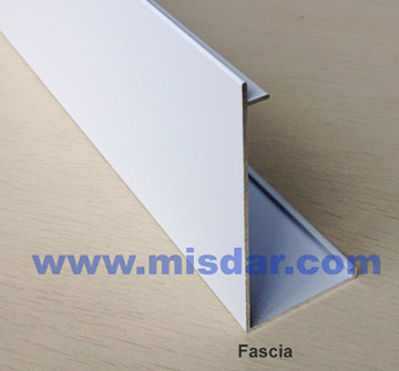 Fascia of roller shades