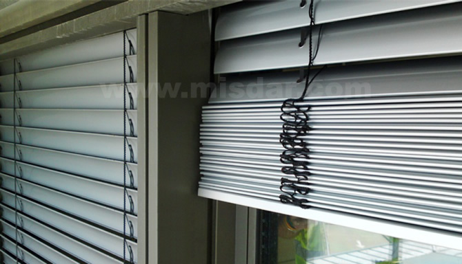 Motorized Outdoor Venetian Blinds External Venetian